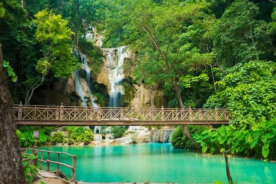 Kuang Si Waterfall At Luang Prabang Laos